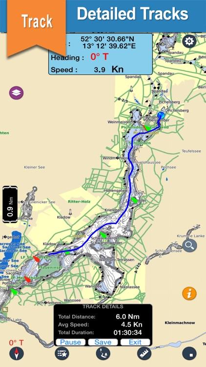 Toledo Bend & Sabine chart for lake & park trails