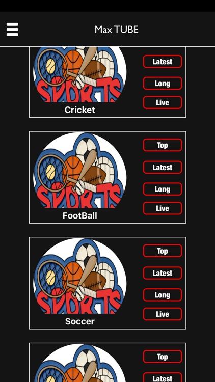 Max Tube LIVE - Sport, Games & Entertainment screenshot-3
