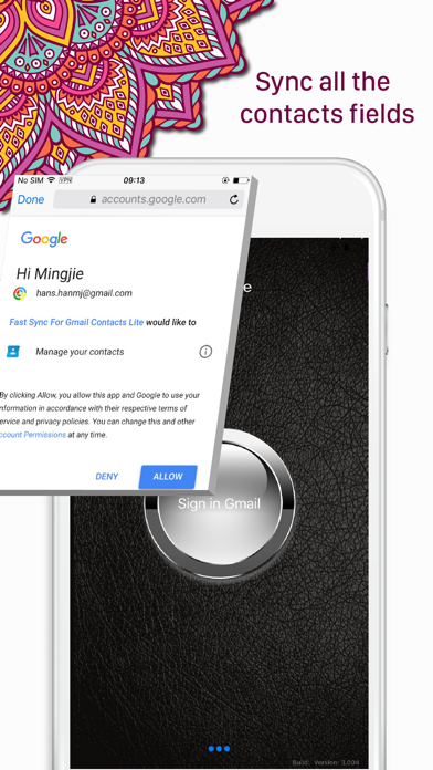 Fast Sync for Gmail Contacts