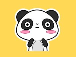 kily第一波,一只有点虚胖又有点呆萌的小熊猫,来银呐~还不赶紧收了它!