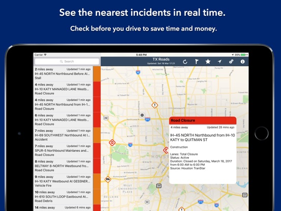 Dallas Real Time Traffic Map.Texas State Roads App Price Drops