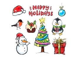 Happy Holidays! Stickers