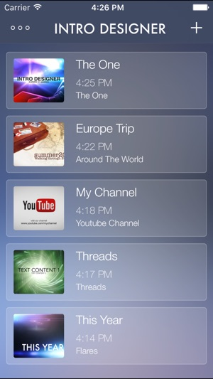 Intro designer for imovie and youtube on the app store screenshots maxwellsz