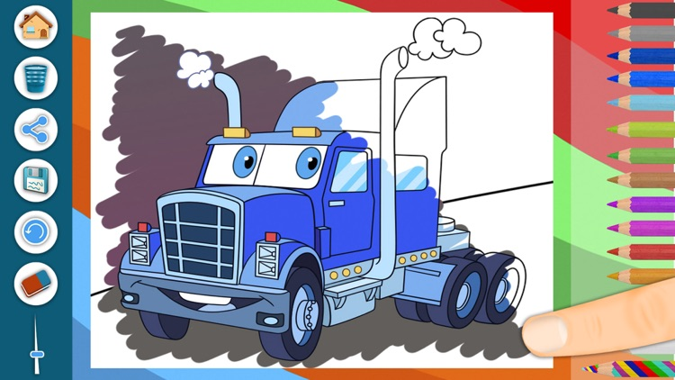 Cars coloring pages for kids – Pro screenshot-0