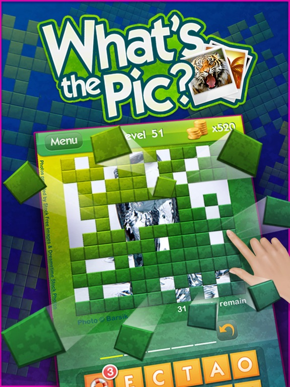 Screenshots of What's the Pic? ~ reveal the hidden object from the photo puzzle and guess what's the word for iPad