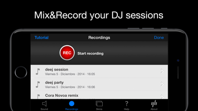 deej - DJ turntable. Mix, record, share your music screenshot three