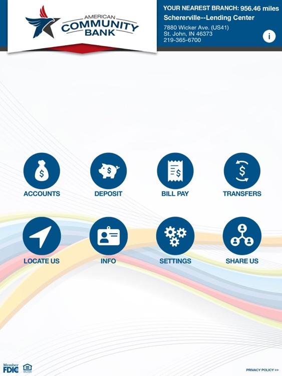 American Comm Bank for iPad
