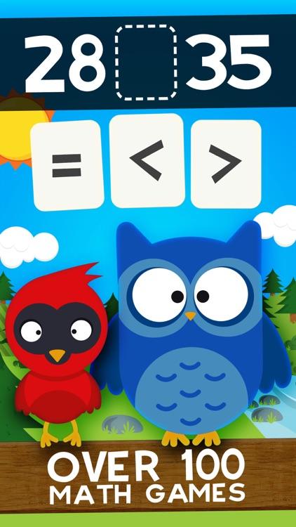 Animal Math Second Grade Math Games for Kids Math screenshot-0