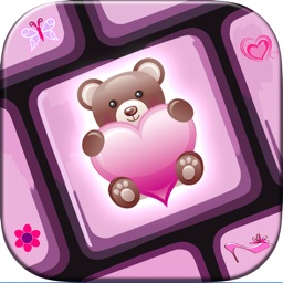 Girly Keyboard Themes & Layout With Fancy Font.s