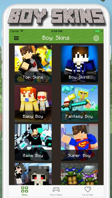 Boy Skins For Minecraft PE MCPE Skins Free App Revisión - Skins para minecraft pe de bebe
