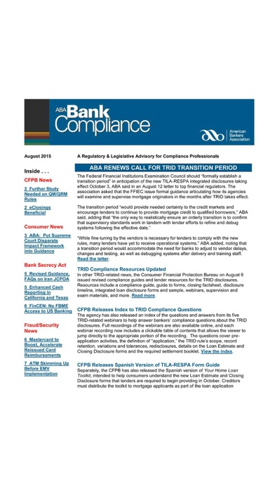 ABA Bank Compliance newsletter-0