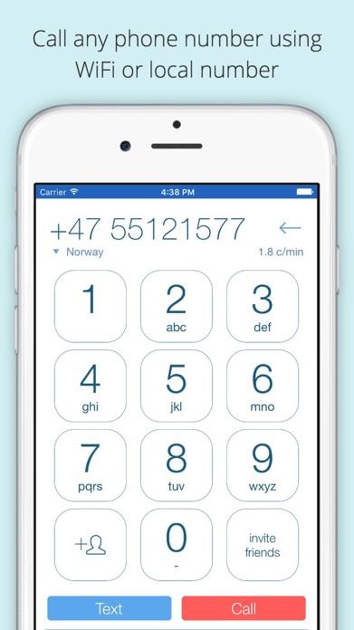 Voxofon International Calling Screenshot