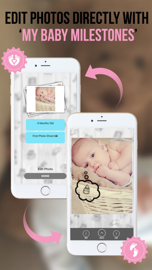 my baby timeline milestone photo album on the app store