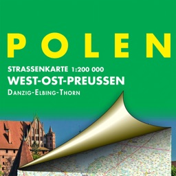 Poland. West and East Prussia. Road map