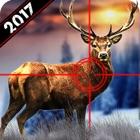 野生の鹿の狩猟2017:雪スナイパーシューティング3D icon