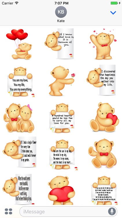 Valentine Bear Stickers
