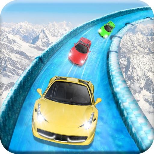 Frozen Water Slide Car driving simulator