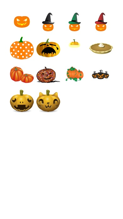 Halloween-Kürbis Sticker PackScreenshot von 1