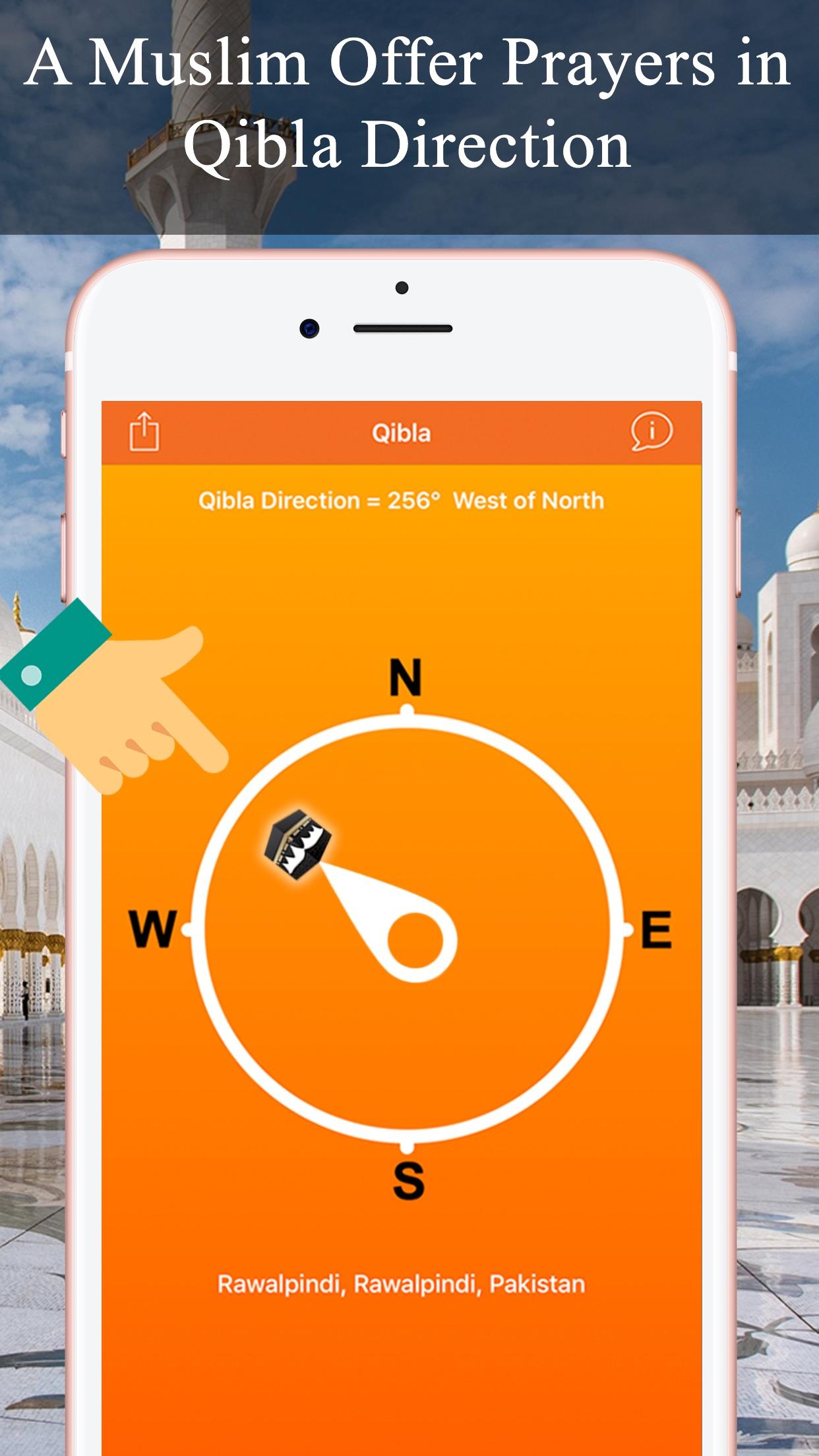 Qibla Compas - Locator, Finder Screenshot