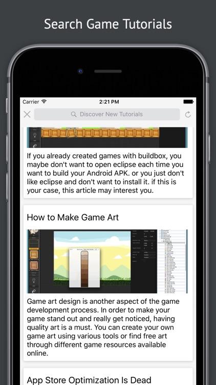 Tutorials for Buildbox Game Development v2