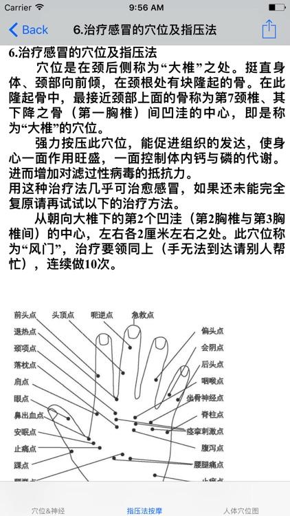 人体穴位图与指压法按摩治疗疾病 screenshot-3