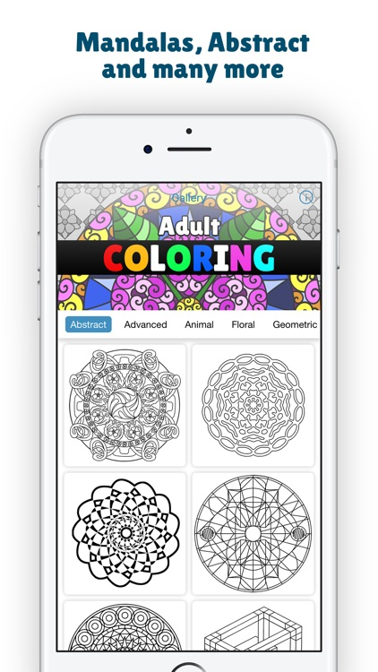 Mandala Coloring Book For Adults Color Therapy Screenshot 2