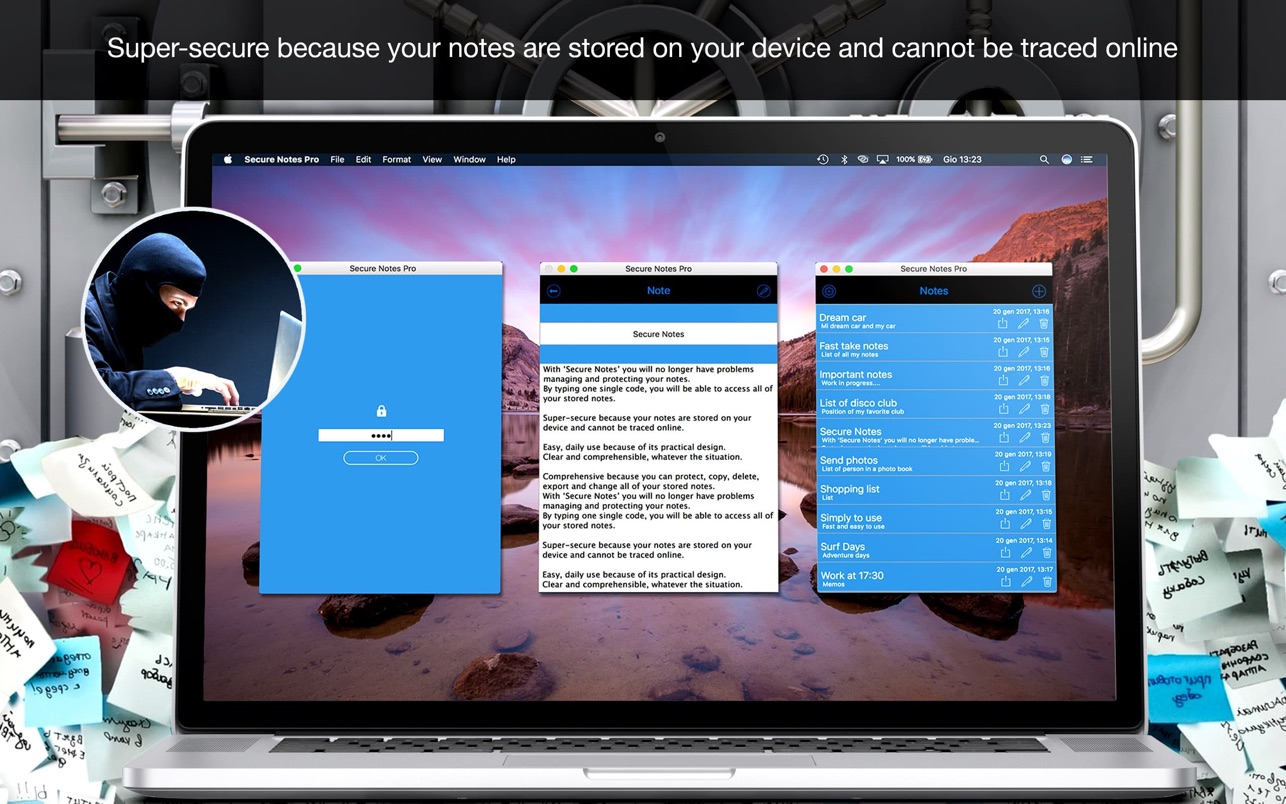 Secure Notes Pro 1.8 Mac 破解版 用密码保护个人笔记