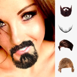 Beard and hair stickers mustaches photo editor