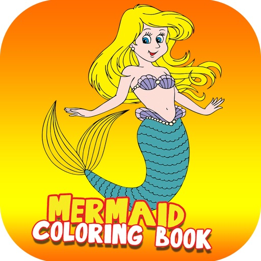 Baby Mermaid Coloring Books: 48 Challenging Game Coloring Page ...   512x512