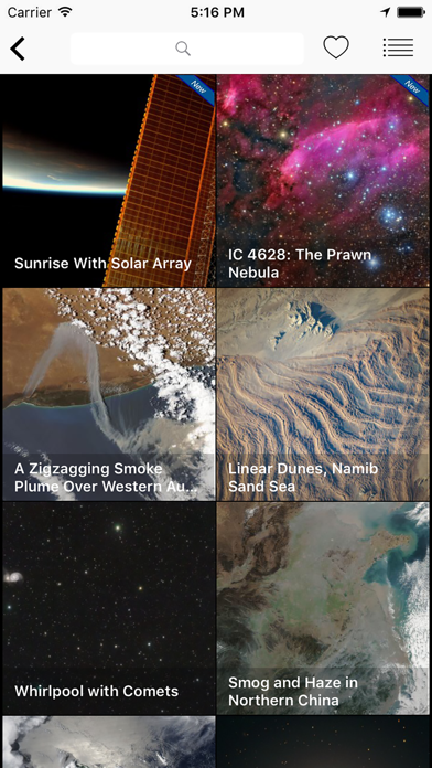 Screenshot 1 for NASA.gov's iPhone app'