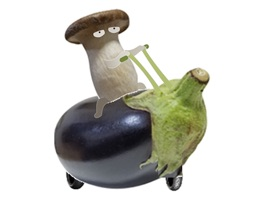 Mushroom Riding a Motorcycle