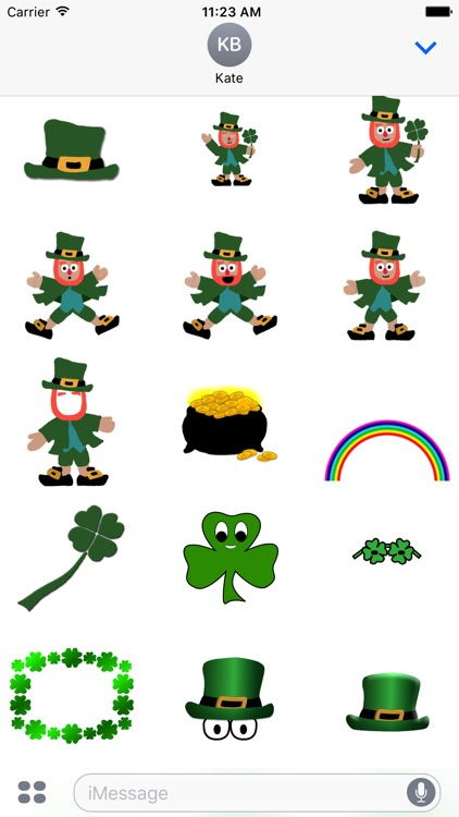 Five Little Leprechauns St. Patrick's Day Stickers screenshot-1