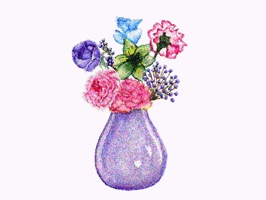 Love Bouquets is a beautiful set of glittered stickers of bouquets