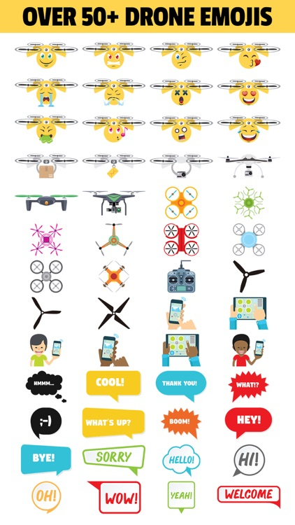 DRONEMOJI - Drone Emojis - Stickers For Drones
