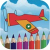Sky airplane coloring book for kids games
