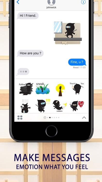 Ninja boy Stickers Emoji Keyboard By ChatStick