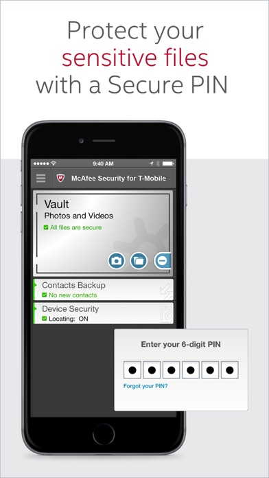 McAfee Security for T-Mobile screenshot 1