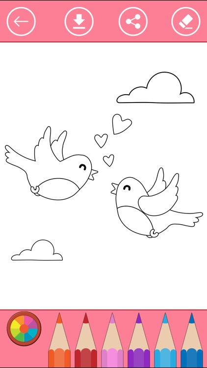 Bird Coloring Book For Kids Learn To Color Draw Screenshot 1