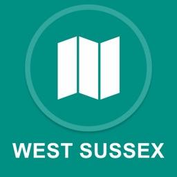 West Sussex, UK : Offline GPS Navigation