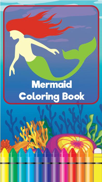 Coloring Mermaid Cartoon Book for preschool screenshot one