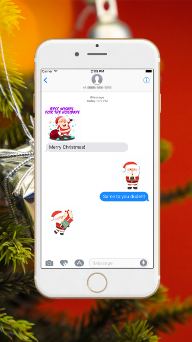 Xmas Santa Stickers screenshot three