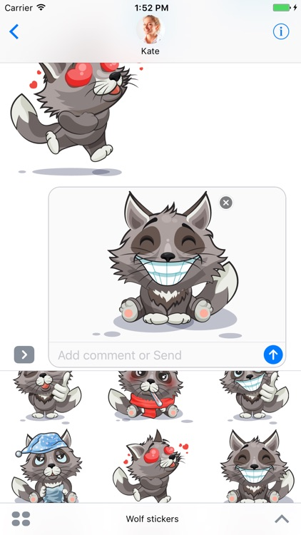 Wolf - Stickers for iMessage screenshot-3