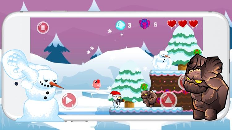 Snowman Run Adventure And Jump Game screenshot-3