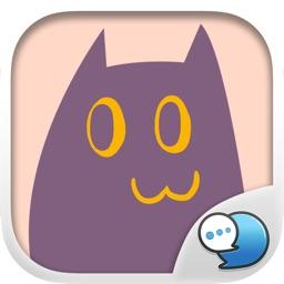 Purple Cat Stickers Emoji Keyboard By ChatStick