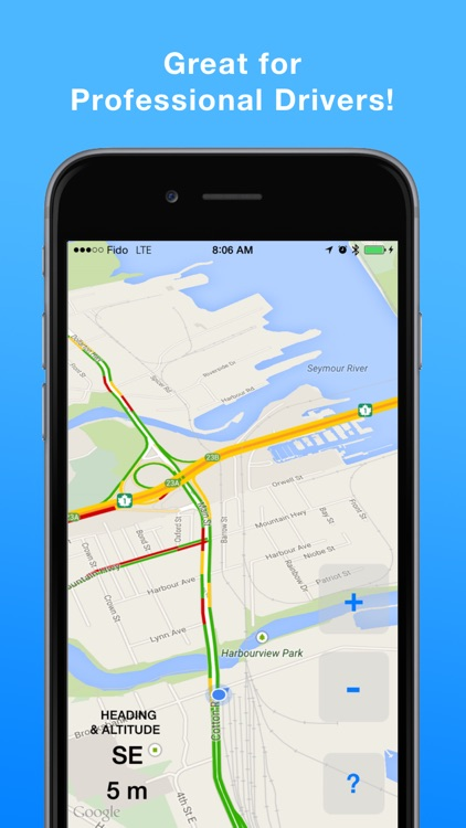 HeadsUp Drive: Traffic App & Simple Map
