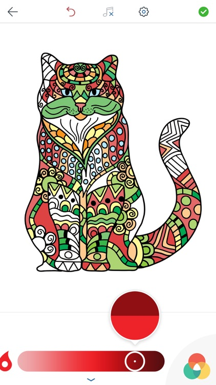 Cat Coloring Pages for Adults screenshot-4