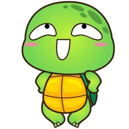 Pura the funny turtle 3 for iMessage Sticker