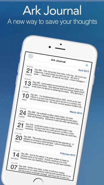 Ark Journal Lite - An Easy Way to Keep a Diary