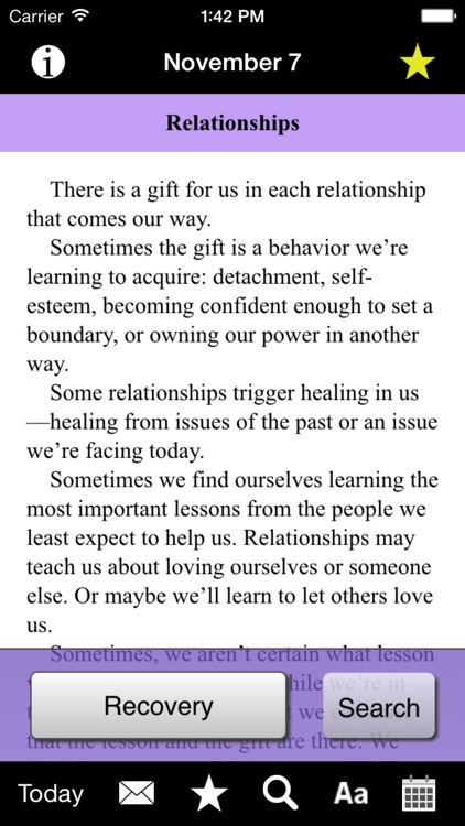 Language of Letting Go: Codependency Meditations