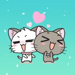 Couple Kitten Animated Sticker